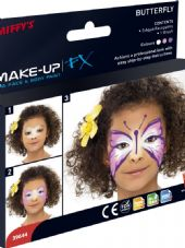 Aqua Based Body And Face Paint - Butterfly Kit